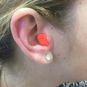 Proper ear plug placement